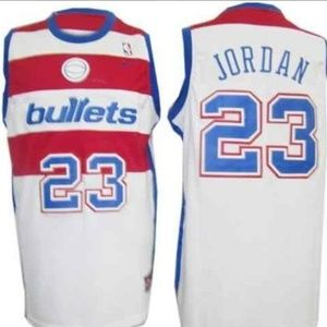 Rare Vtg Washington Bullets Jordan Jersey L